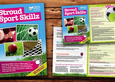 Sport Skillz Leaflet Design