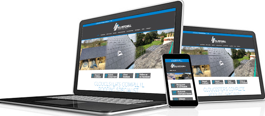 Website design for PS Mitchell Roofing Ltd